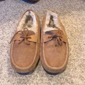 Ugg tan suede Bryon  Ascot loafer slipper shoes 10